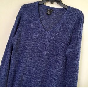 Calvin Klein Jeans Blue Textured Sweater Size M